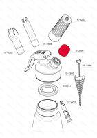 Uzávěr plnícího ventilu, nerezový