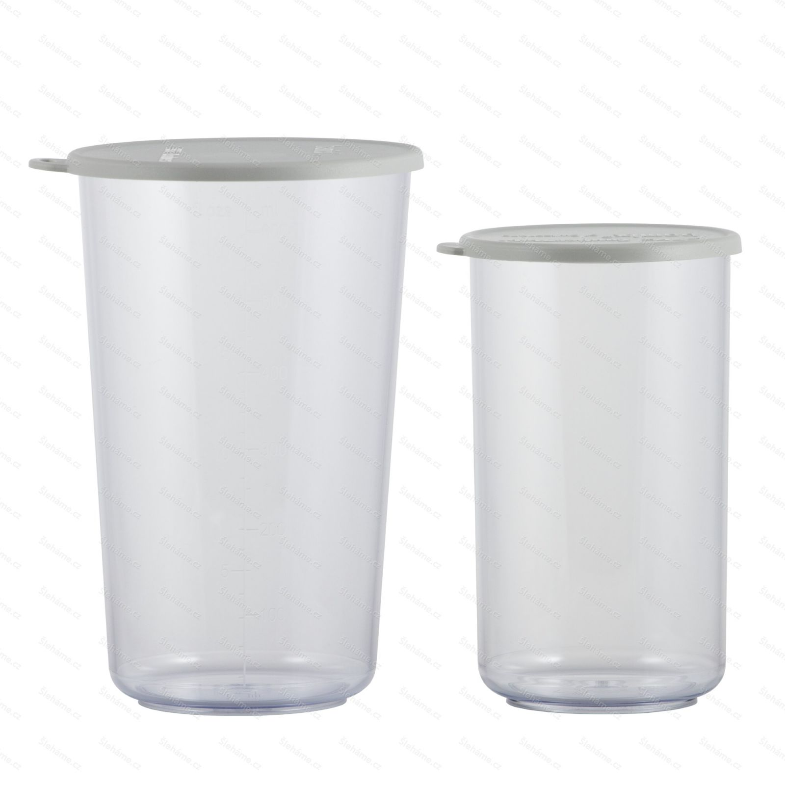 Souprava pohárů Bamix 400 a 600 ml, s šedými víčky