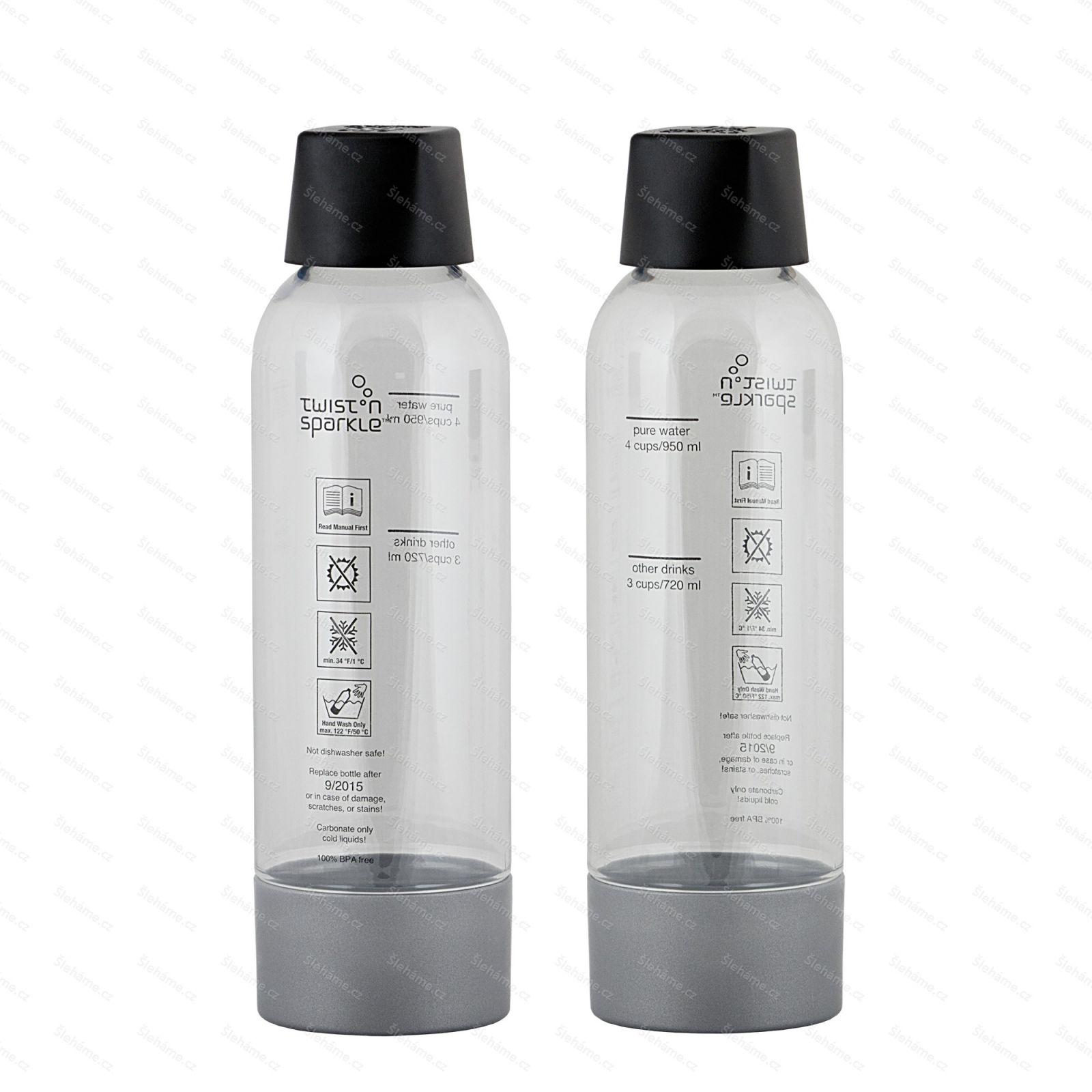 Náhradní láhve iSi TWIST & SPARKLE, 2 ks