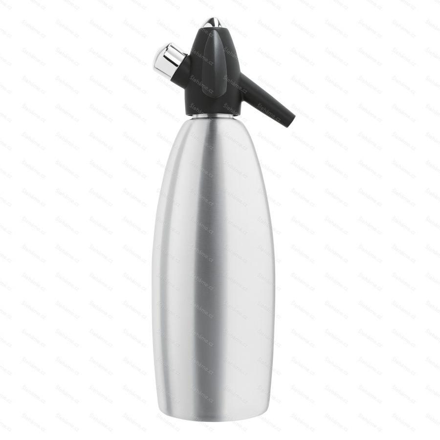 Sifonová láhev iSi SODA SIPHON 1 l, stříbrná