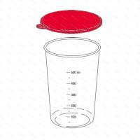 Náhradní víčko poháru 600 ml, černé