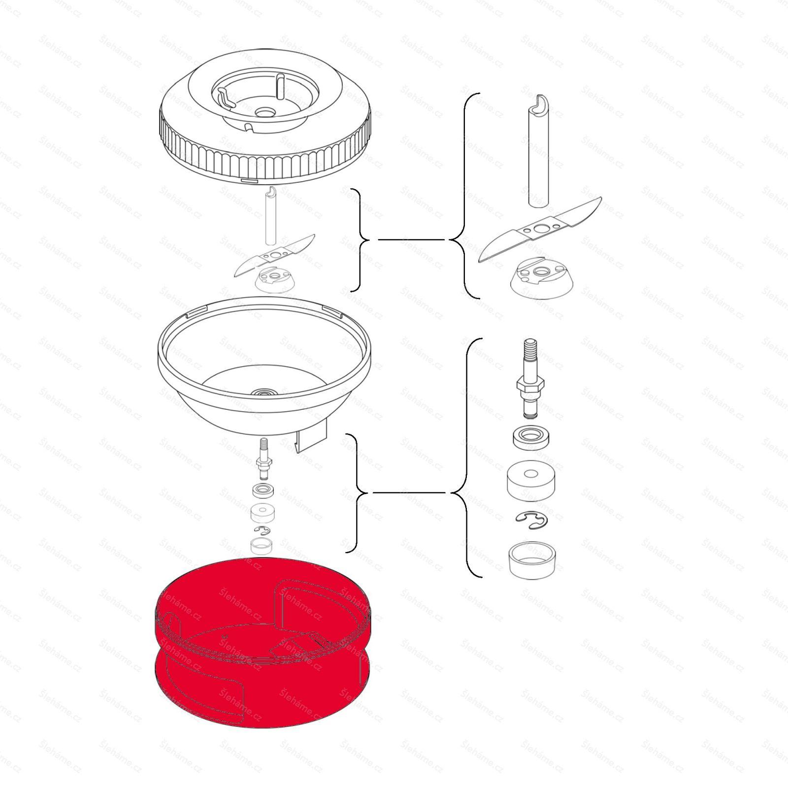 Plastový obal nádoby procesoru 200 ml Bamix, bílý