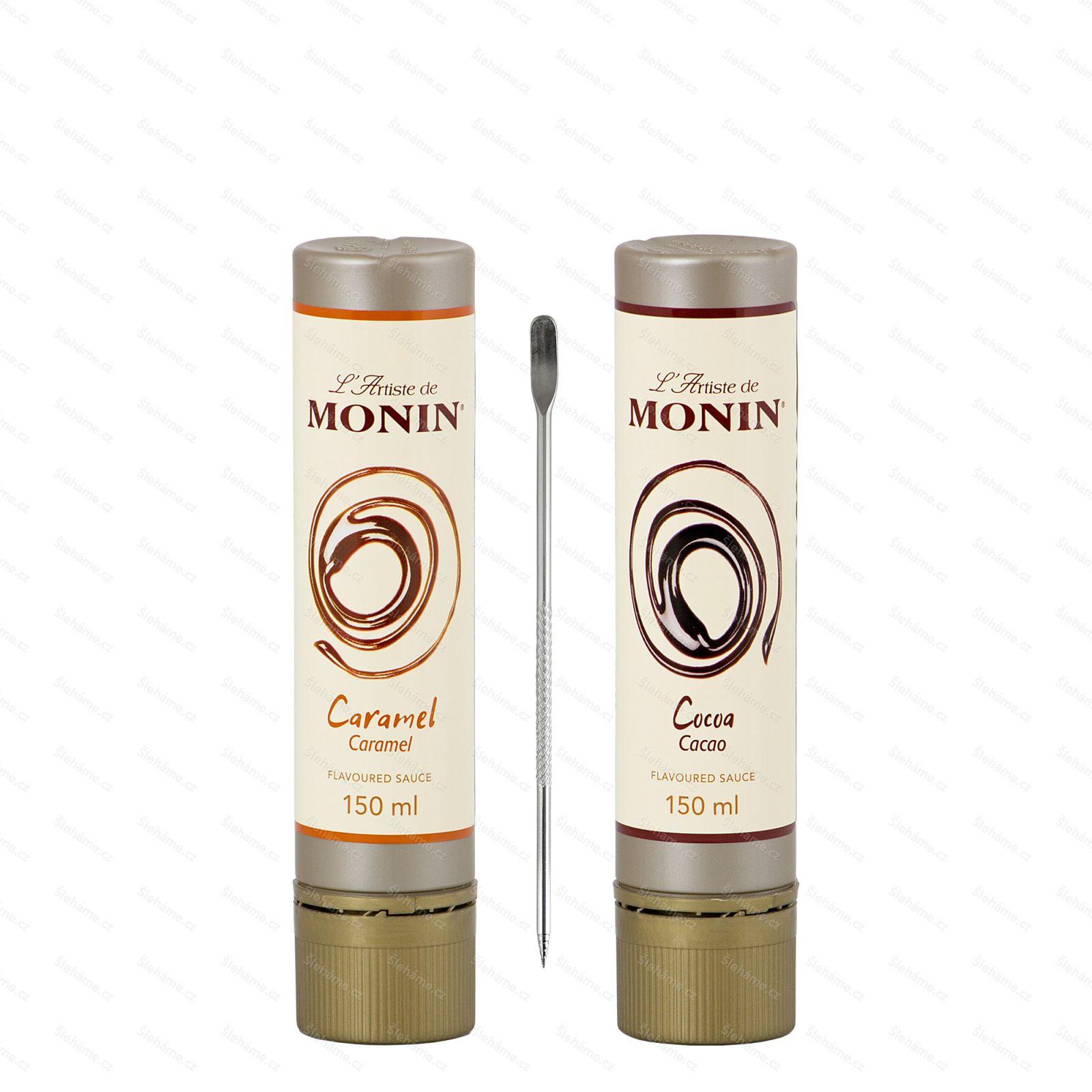 Sada dekoračních topingů L'Artiste de Monin Caramel & Cocoa