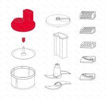 Zobrazit detail - Poklice krouhače SliceSy, červená