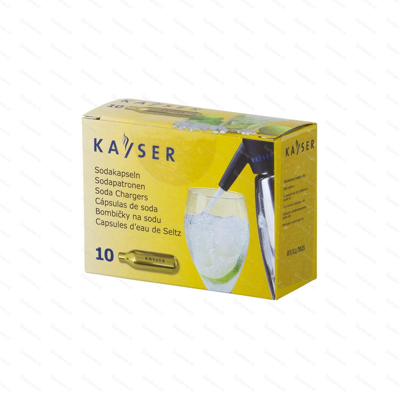 Sifonové bombičky Kayser 7.5 g CO2, 10 ks (na jedno použití)