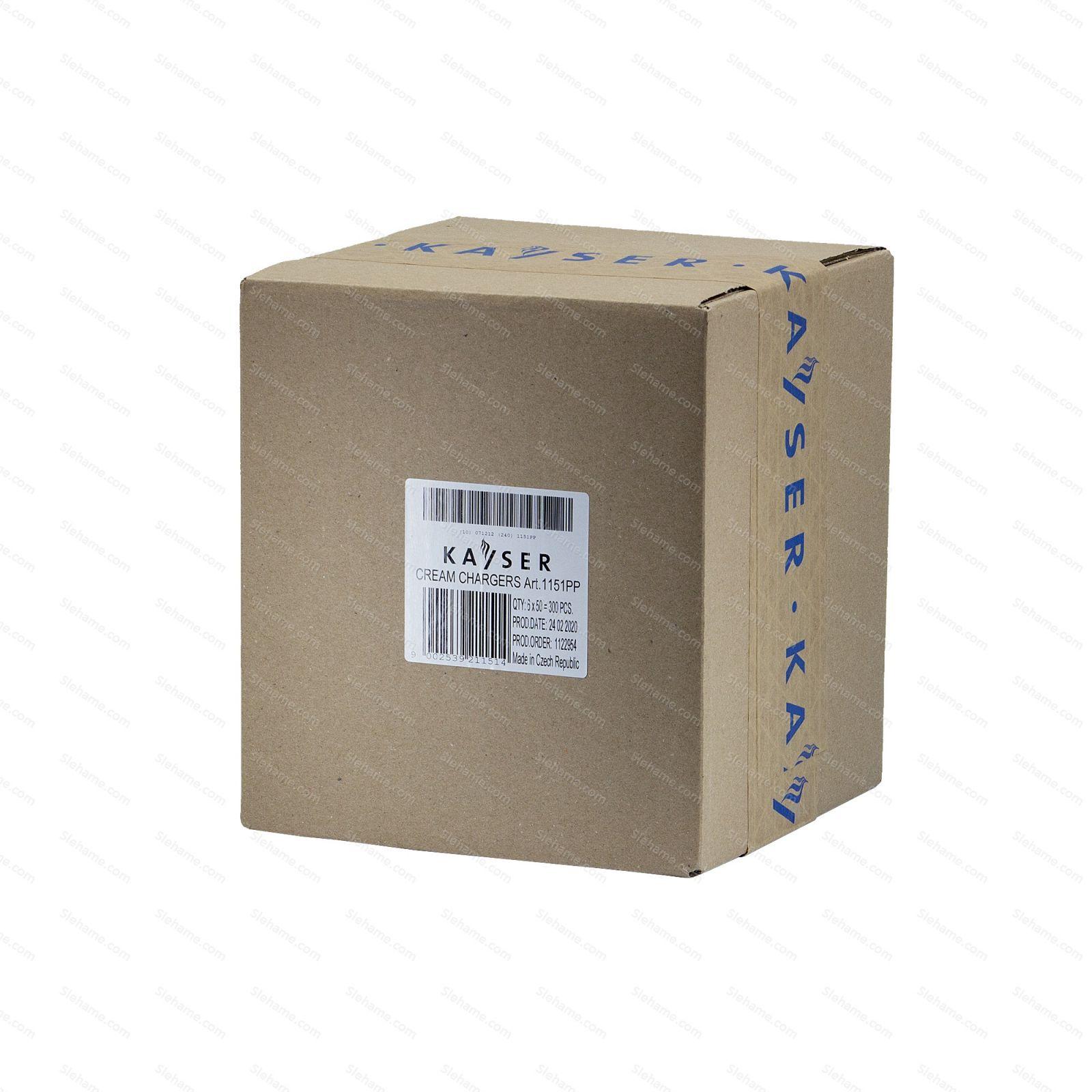 Šlehačkové bombičky Kayser 7.5 g N2O, 50 ks (na jedno použití)