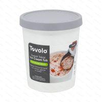 Kelímek na zmrzlinu Tovolo SWEET TREAT 1.0 l, světle šedý
