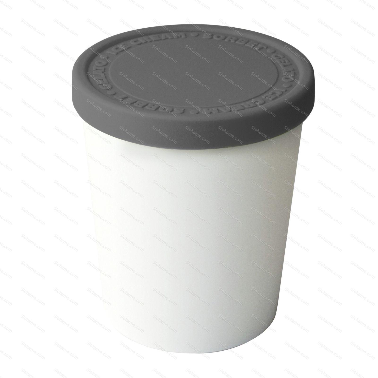 Kelímek na zmrzlinu Tovolo SWEET TREAT 1.0 l, tmavě šedý