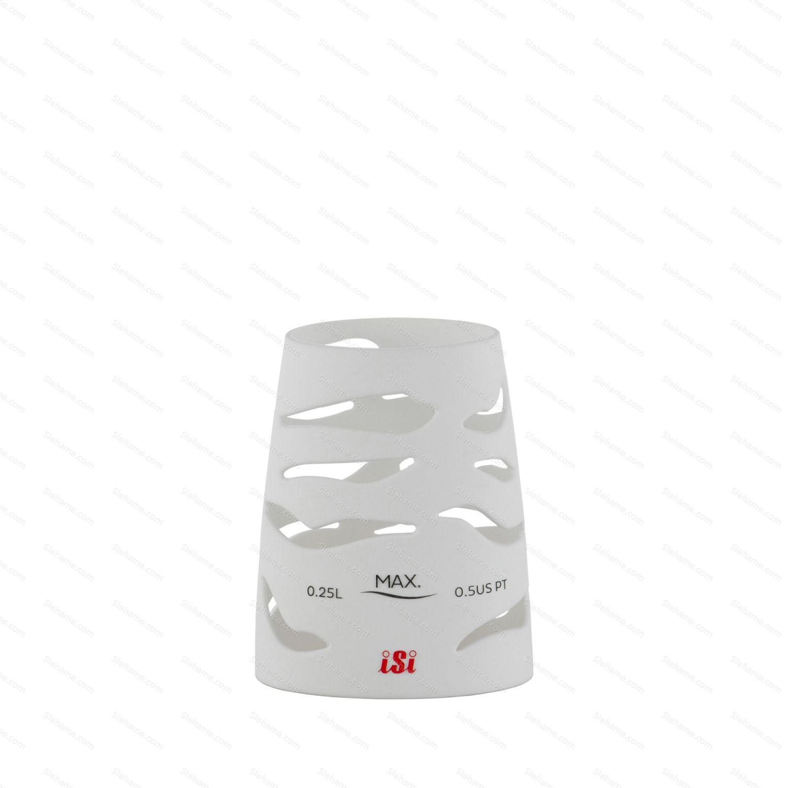 Silikonový návlek pro šlehače iSi 0.25 l, bílý