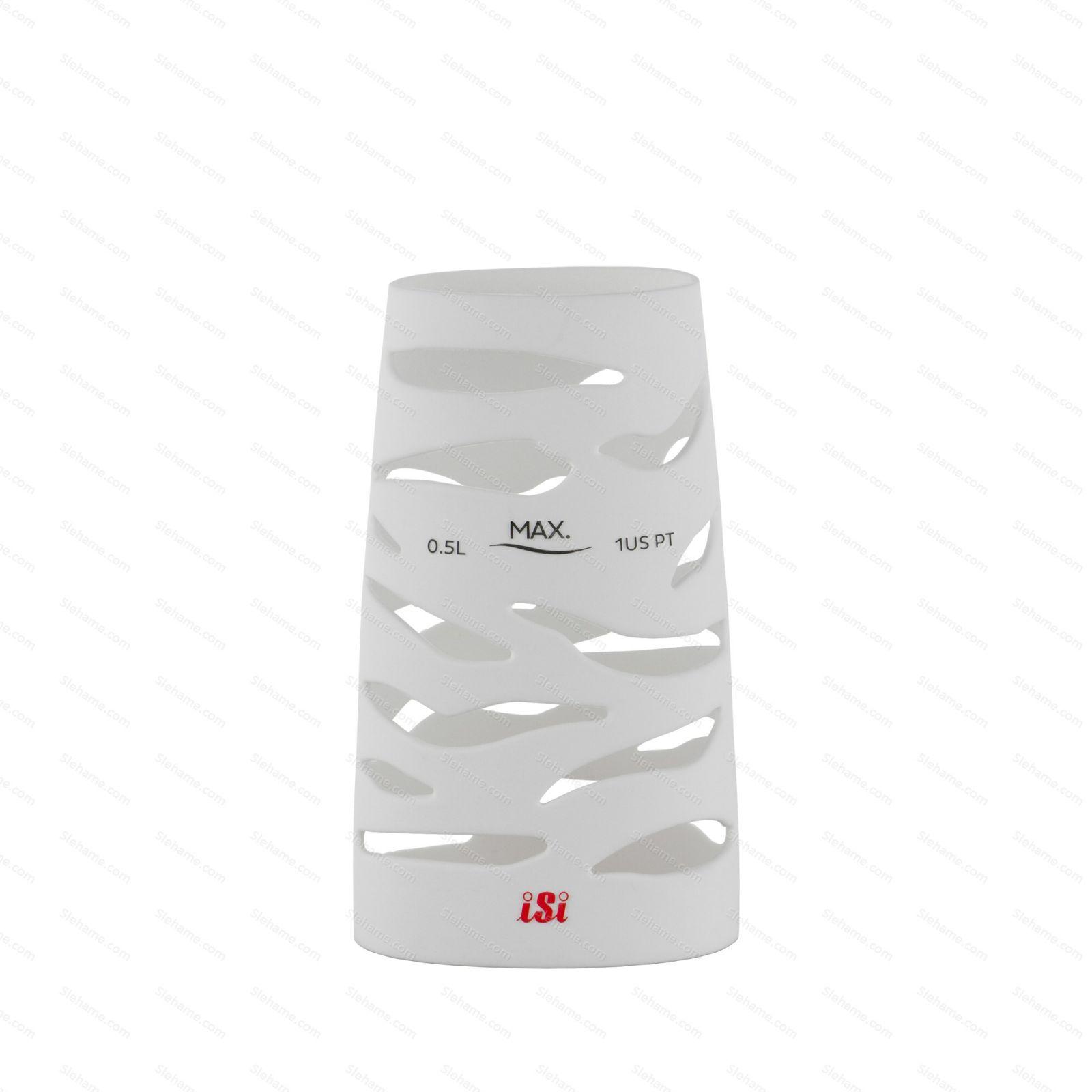 Silikonový návlek pro šlehače iSi 0.5 l, bílý