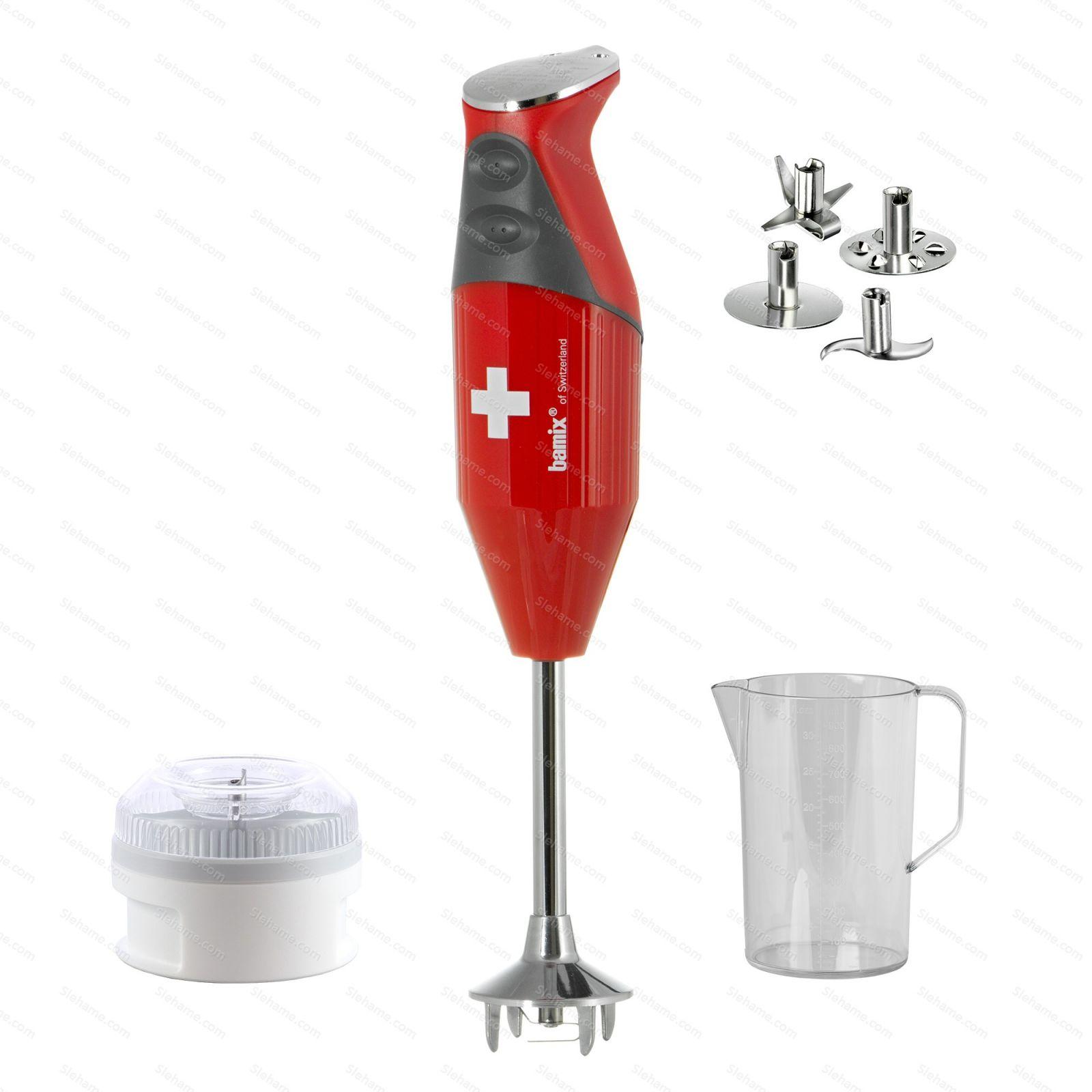Tyčový mixér bamix® SWISS LINE M200, červený (půjčovna)
